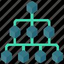hierarchy, block, blocks, structure icon