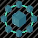 microservice, cycle, blocks, block icon