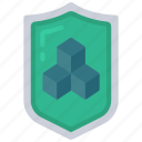 security, shield, blocks, secure icon