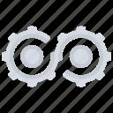 cog, wheels, cogs, gears, infinite, loop