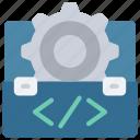 toolbox, tools, cog, gear icon