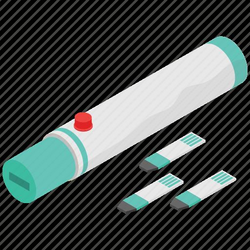 diabetes test, diabetology, glucometer, glucose meter, sugar measuring tool icon