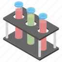 chemistry flask, experiment, lab apparatus, test tube stand, test tubes icon