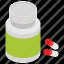medicine jar, medical treatment, antibiotic, pill bottle, prescription drug icon