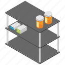 dressing trolley, hospital furniture, hospital trolley, instrument trolley, medical cart icon