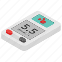diabetes test, diabetology, glucometer, glucose meter, sugar measuring tool icon