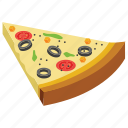 eating, fast food, junk meal, pizza piece, pizza slice icon