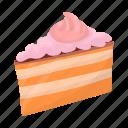 cake, cream, dessert, food, sugar, sweetness