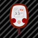 diabetes test, glucometer, glucose, glucose meter, glucose monitoring, medical device, sugar test icon
