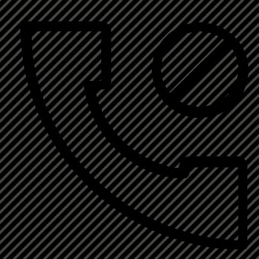 block, call, reject icon