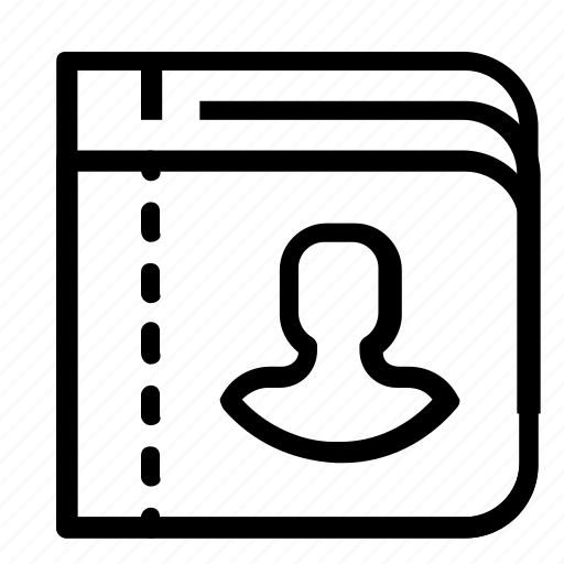 book, contact, list icon