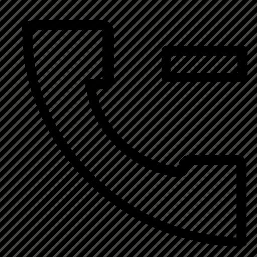 call, contact, delete icon