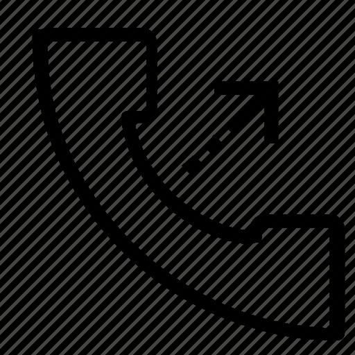 call, outgoing icon