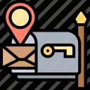mailbox, address, postal, letter, send