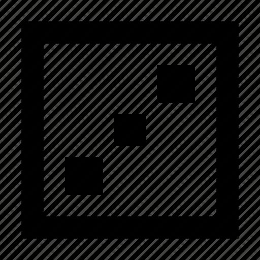 dice, gamble, precision, stochastic, three icon