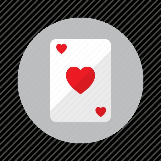 board game, card, casino, gambling, heart, playing, poker icon