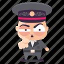 accuse, dictator, emoji, emoticon, man, sticker icon