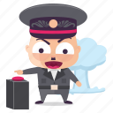 dictator, emoji, emoticon, explosion, man, sticker icon