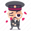 dictator, emoji, emoticon, flirt, man, sticker icon