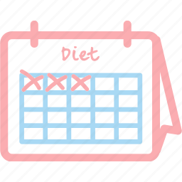 aim, calendar, challenge, diet, fit, plan icon