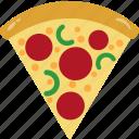 calorie, fat, nutrition, pizza