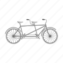bicycle, sport, technology, tourism, transport, travel, vehicle icon