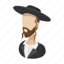 cartoon, jew, jewish, man, orthodox, rabbi, religious icon