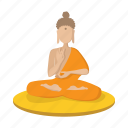 cartoon, chakra, indian, meditation, religion, spiritual, yoga icon