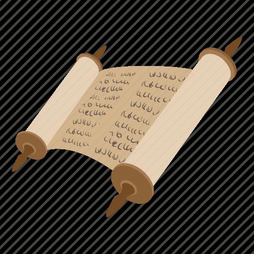 bible, cartoon, jewish, judaism, religion, religious, scroll icon