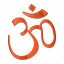 buddha, cartoon, hindu, ohm symbol, philosophy, religion, spirituality icon