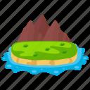 beach island, hawaii island, island, island rocks, island scene icon