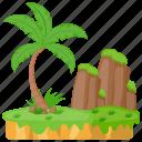 cocos island, island, island rocks, island scene, tourism icon