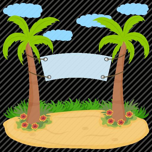 destination, island hammock, resort, tropical island, vacations icon