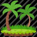 destination, island, palm trees, paradise, tropical island icon