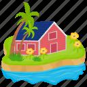 destination, exotic island, island, paradise, tropical island icon