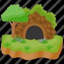 greenwich island, island, island cave, meade island, tropical island icon
