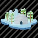 baffin island, island, island scene, snow island, winter island icon