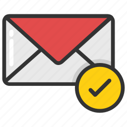 email check, envelope checkmark, message sent, outgoing message, sent mail icon