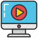 media technologies, online video, watch online, web streaming, webcast icon