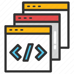 binary code, html, program coding, programming, web development icon