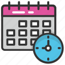 calendar, program, schedule, time management, timetable icon