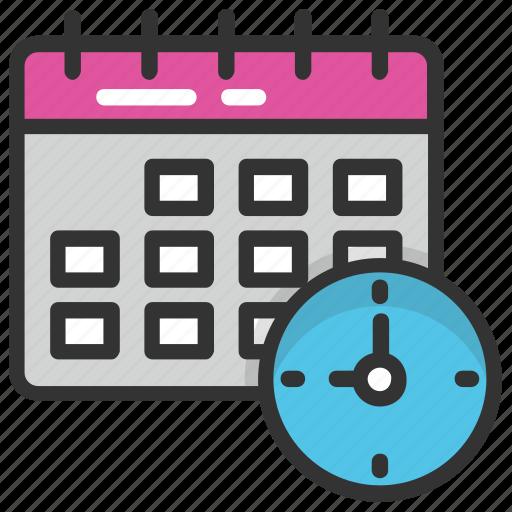 calendar, program, schedule, time management, timetable icon