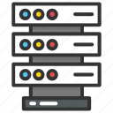 data center, database, mainframe server, server, server rack icon