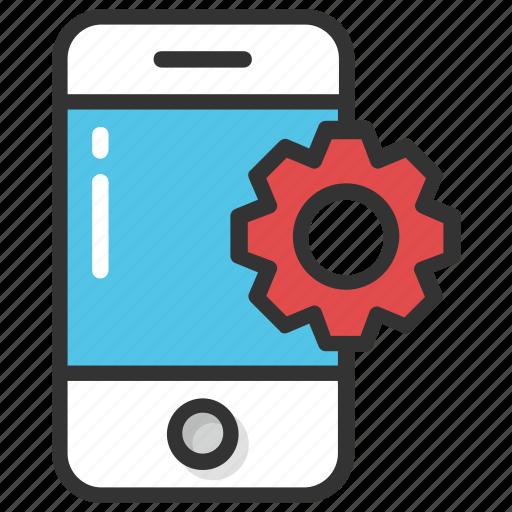 app development, mobile adjustment, mobile configure, mobile phone application development, mobile technical support icon