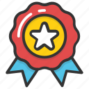 award badge, best, quality emblem, rating symbol, star badge icon