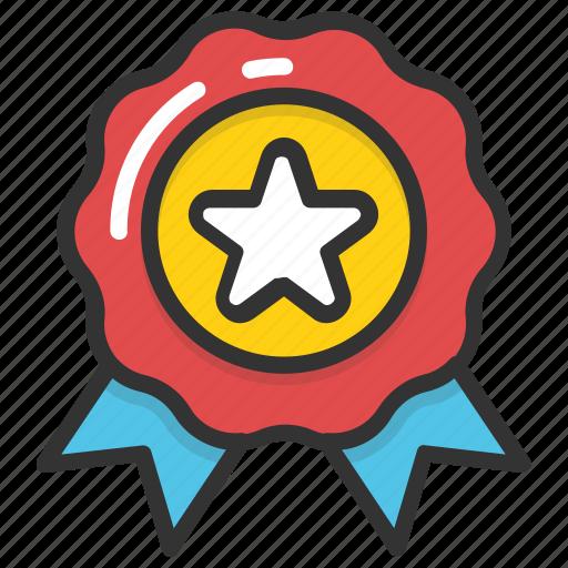 award badge, best, quality emblem, rating symbol, star badge icon