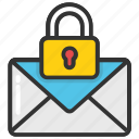 email service, encrypted mail, mail lock, mail privacy, mail protection icon