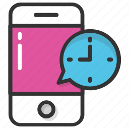 android mobile, mobile app, mobile speaking clock, mobile talking clock icon
