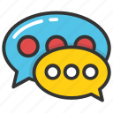 babbling, chat, chat bubble, speech bubble, talking icon