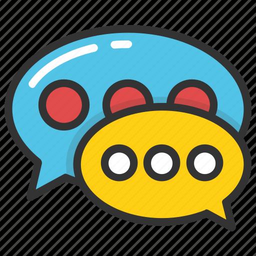 babbling, chat, chat bubble, speech bubble, talking icon
